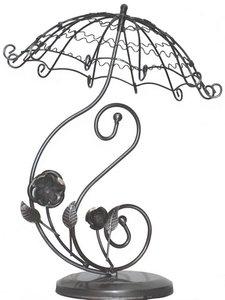 Oorbellenmolentje bloemen en parasol zilver